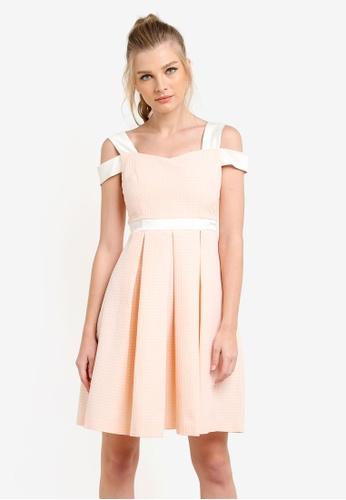 Vesper pink Carrie Jacquard Full Skirt Dress VE733AA0S78TMY_1