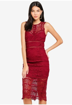 a6fc257f664ac Bardot red Mariano Lace Dress 6AD51AAD234389GS 1