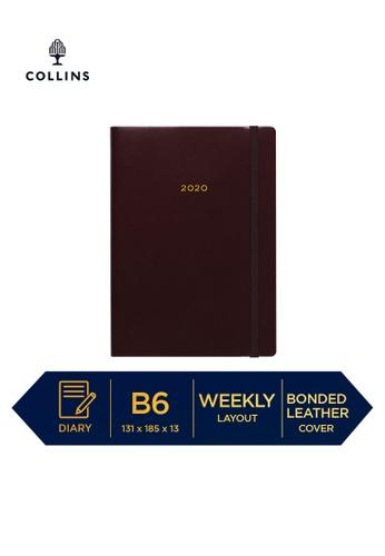 Collins red Collins Metropolitan London ─ 2021 Calendar Year Diary ─ Maroon ─ B6 Week to View 2392CHL63F818BGS_1
