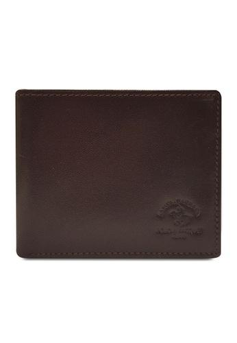 Santa Barbara Polo & Racquet Club brown Santa Barbara Luxurious Leather Bifold Wallet SA678AC0GQ9BSG_1