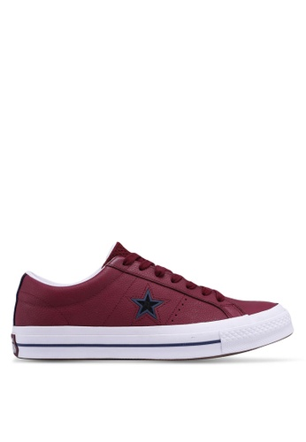 Converse red One Star Levels Ox Sneakers AA745SHCDC298BGS_1