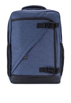 【ZALORA】 多功能夾層16寸筆電後背包