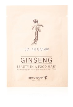 Beauty In A Food Mask Sheet, Ginseng Pack of 5