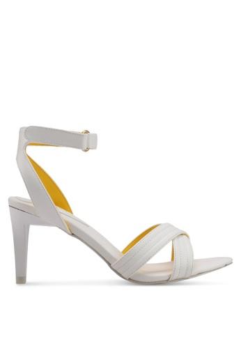 VINCCI white Strappy Heels F30FDSH49FA021GS_1