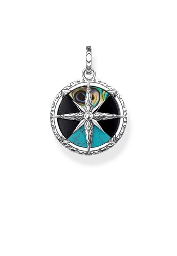 "THOMAS SABO silver pendant ""compass small"" 1FE29AC9DD2AABGS_1"