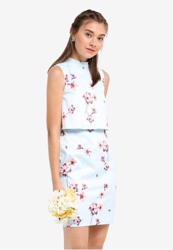 ZALORA multi Bridesmaid Double Layer Pencil Dress 56D6EAADCFAED8GS_1