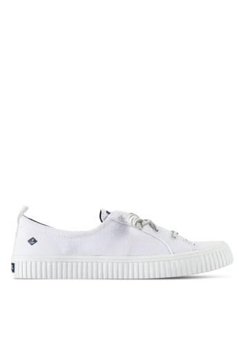 Sperry white Crest Vibe Creeper Sneakers SP132SH36BPZMY_1