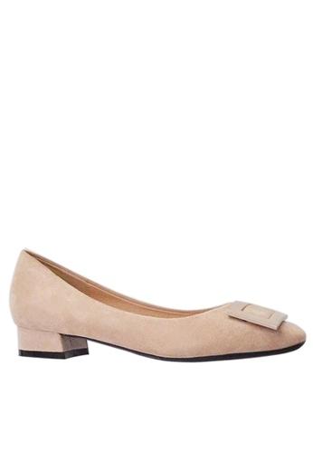 Twenty Eight Shoes 尖頭方扣絨面高踭鞋1205-15 88449SHEBA7D29GS_1