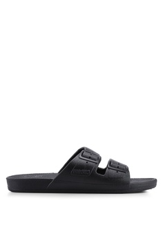 12004c23f01a Freedom Moses black Basics Black Sandals 75280SH90CDDB9GS 1