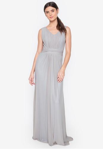 Tantease grey Daniela Long Dress 44FB6AA40D7082GS_1