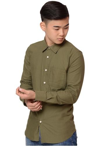 Praise green Long Sleeves Shirt PR067AA0HA9ESG_1