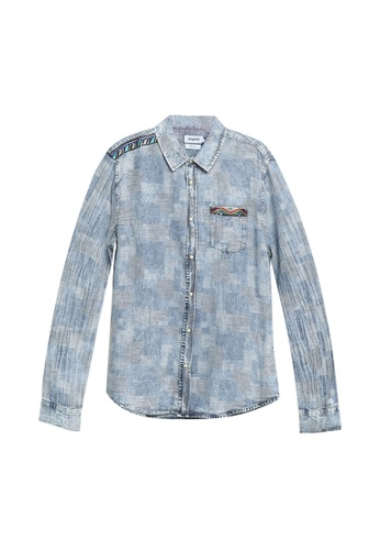 Desigual blue Washed Checked Shirt 664E9AA165AB21GS_1