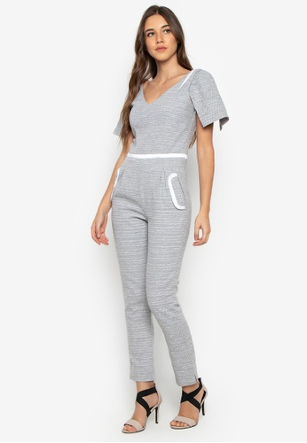 Fatima Beltran Clothing Line grey Striped Jumpsuit With Detachable Sleeves 59449AA6117CBDGS_1