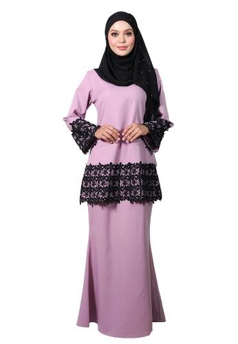 Baju Kurung Zaalia from LARA NOUR in Purple