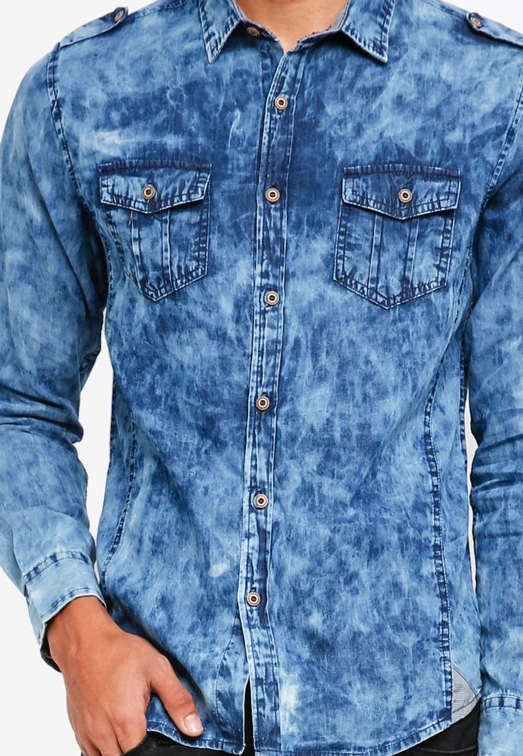 Fidelio Wash Blue Acid Shirt Denim qtwyaP