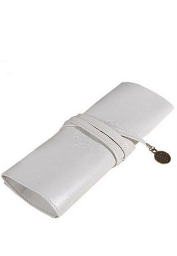 Urgent white Cosmetic Travel Bag ECO Leather for Brush and Makeup WHITE 0C465BE098ECB9GS_1