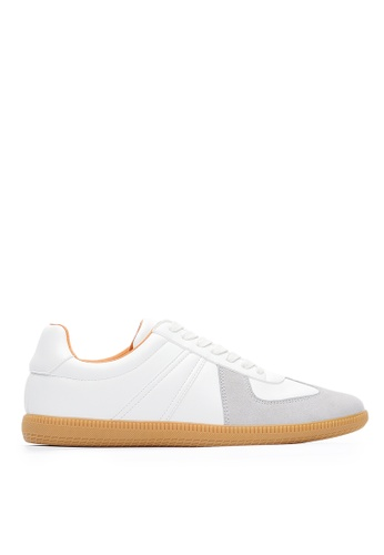 Life8 white Casual Lace-Up German Trainer-09894-White 07DF1SH2E62916GS_1