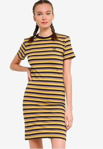 ADIDAS black striped dress 835ACAA5C26D27GS_1