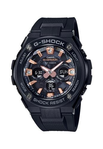 G-SHOCK black Casio G-Shock Men's Analog-Digital Watch GST-S310BDD-1A G-Steel Natural diamonds with Black Resin Band Sports Watch 90B49ACEFFEF87GS_1
