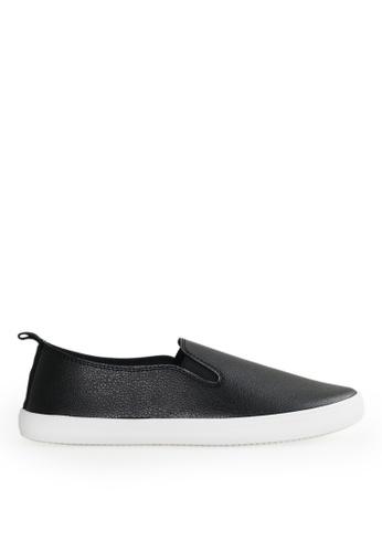 Footspot black FOOTSPOT - Simple Slip-on Casual Shoes DA2E6SHC8AE241GS_1