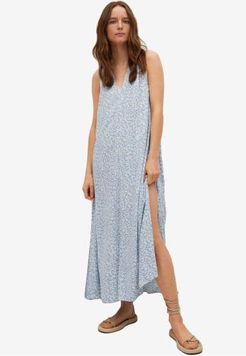 Mango blue Flowy Printed Dress B2FD7AA8ADB139GS_1