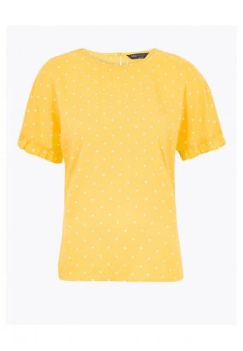 MARKS & SPENCER multi Woven Polka Dot Short Sleeve Blouse 82D18AA160F7B0GS_1
