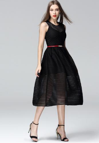 Sunnydaysweety black Thread Stripe Vest Dress CA022412-0BK E96E6AA12A16ACGS_1