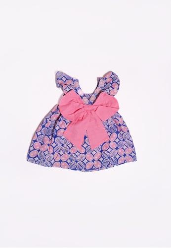 YeoMama Batik white and pink and purple and multi Paddlepop Batik Bow Dress 2A1EBKA99A5315GS_1