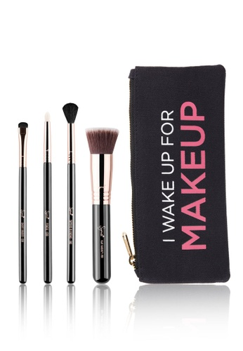 Sigma Beauty black and brown ZALORA Exclusive Starter Set with Makeup Bag SI287BE0S3S6MY_1