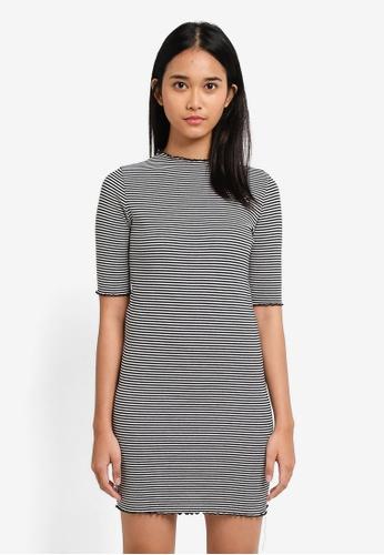 TOPSHOP multi Petite Stripe Bodycon Dress 5CF5BAA6EF6363GS_1