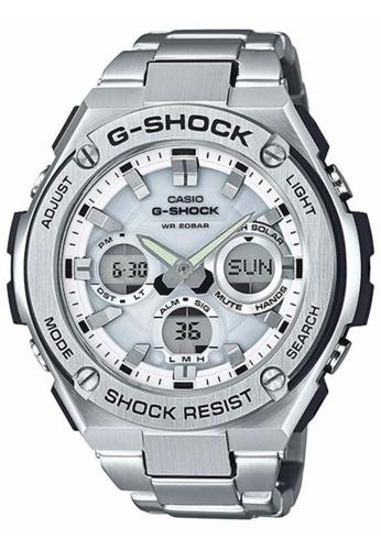 G-shock silver CASIO G-SHOCK GST-S110D-7A GS076AC22NUZMY_1