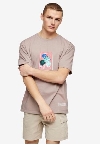 Topman pink Pink Lost Hope T-Shirt 7ECFFAAA12A70EGS_1