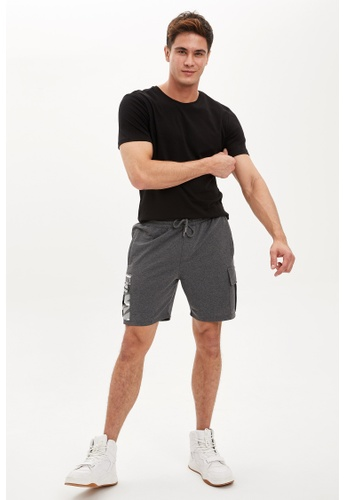DeFacto grey Man Knitted Bottom Short 4B405AA98E0640GS_1