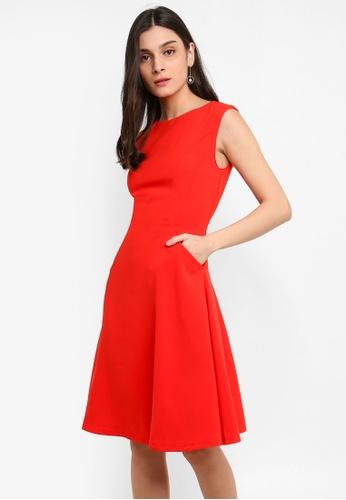 FORCAST red Rawin A-Line Dress 5CE99AAF1FB4D6GS_1