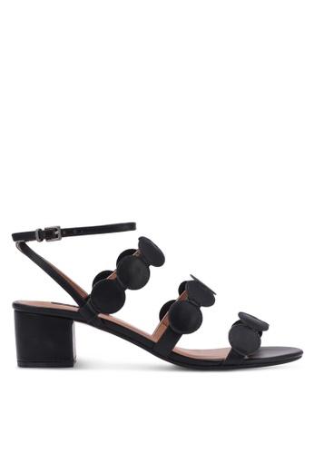ZALORA black Round Detail Strap Heels AD30FSH3743FEDGS_1
