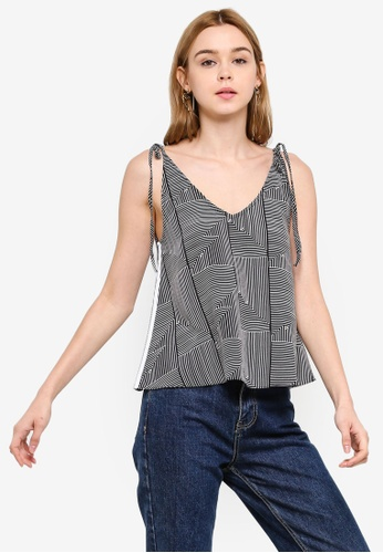 Something Borrowed 黑色 A-Line Top With Cross Back D15B4AADC14FFBGS_1
