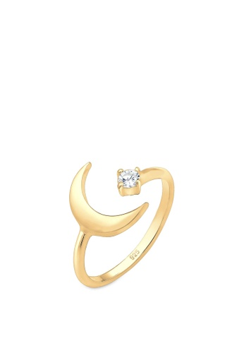 ELLI GERMANY gold Elli Germany Ring Crescent Astro Zirconia 925 Silver Gold Plated 1F5CAAC4E9BF3CGS_1