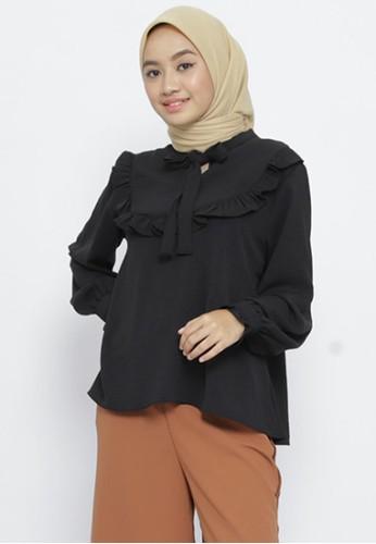 Mimamim black Blouse Fawnia Ruffled BA4AFAAFF3D0C3GS_1