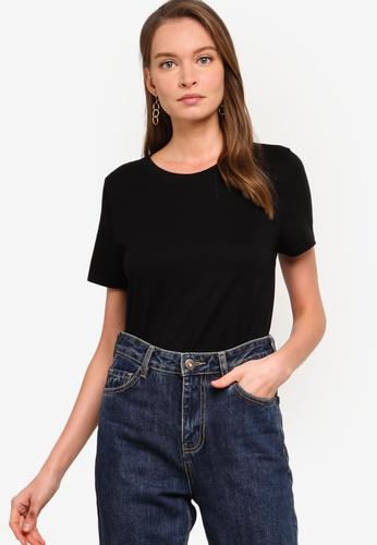Banana Republic black SUPIMA® Cotton Crew-Neck T-Shirt 62258AA76DE8FCGS_1