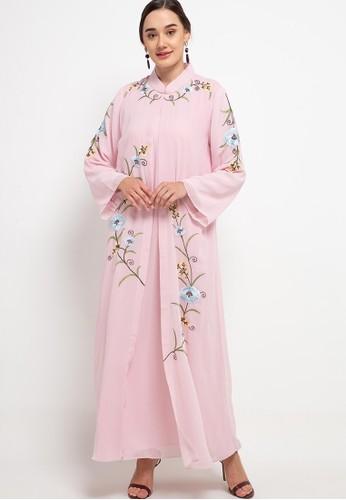 Kamilaa by Itang Yunasz pink Gamis Bordir 66059AAA1FDD9FGS_1