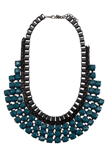 Acrylic Gemstesprit 面試one Box Chain Bib Necklace, 飾品配件, 項鍊