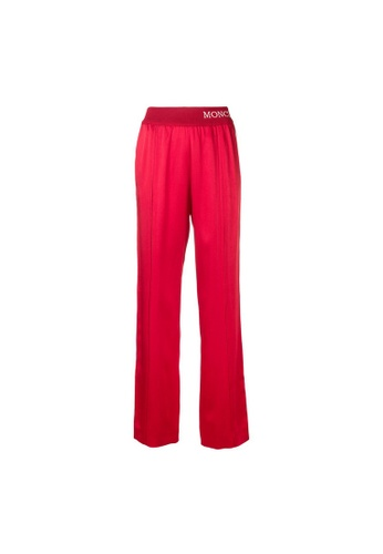 Moncler red Moncler Ribbed Waistband with Intarsia-Knit Sweatpants in Red CBE0FAAE1CA27CGS_1