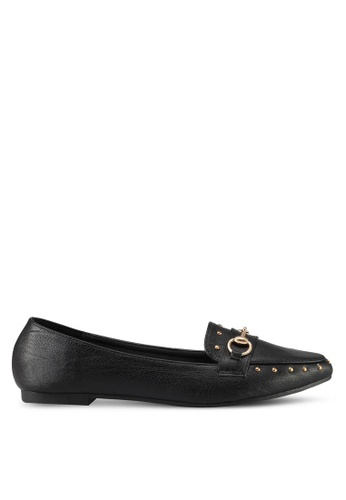 Mimosa black Loafers with Metallic Detail D05CBSHC73FA27GS_1