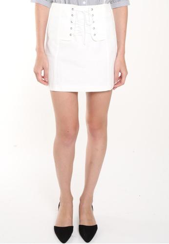 JOVET white Lace Up Skirt JO914AA0FM3JSG_1