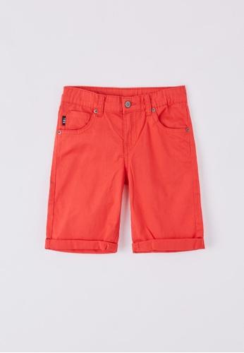 Terranova red Boys' 5-pocket Shorts 4C9BEKABB4E220GS_1