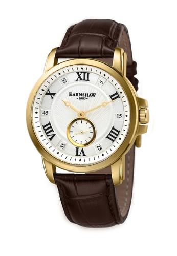 Thomas Earnshaw brown Thomas Earnshaw FITZROY ES-8021-03 Men's Brown Genuine Leather Strap Watch 4B09FAC1864AC1GS_1