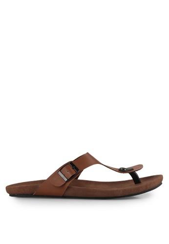 NIEL brown Cozmic Synthetic Leather NI227SH0UOH3ID_1