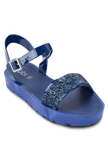 Moss 閃esprit手錶專櫃鑽繞踝厚底涼鞋, 女鞋, 鞋