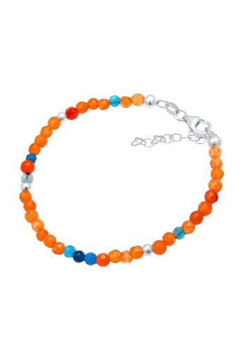 ELLI GERMANY multi Agate Beads Colourful Beach Bracelet 6A107AC25E7D56GS_1