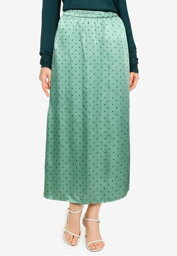 JACQUELINE DE YONG 綠色 綁帶裙 DBF77AA463249FGS_1